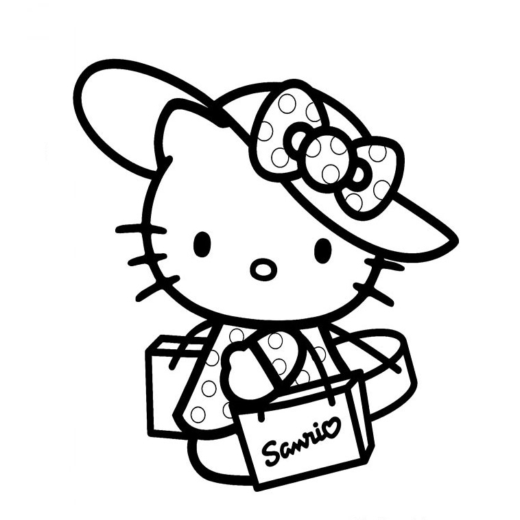 Hello Kitty Fait Du Shopping