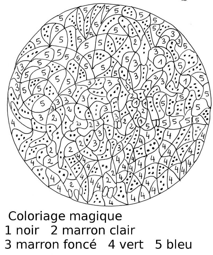 Coloriage Magique Facile 11
