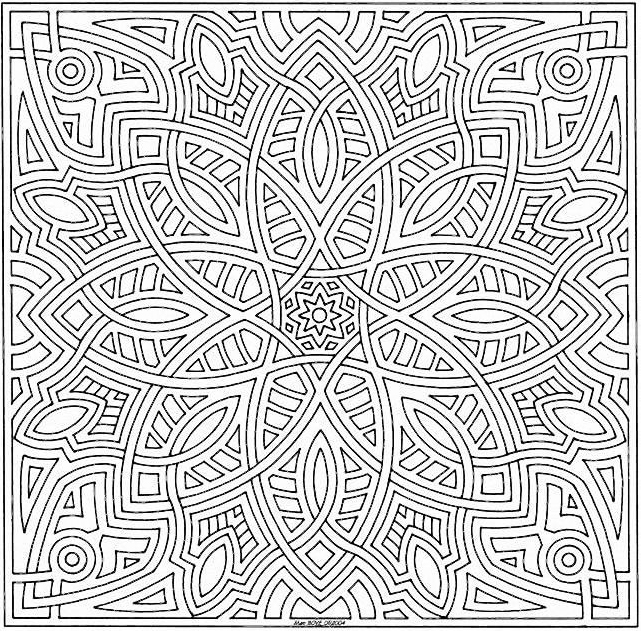 Coloriage Mandala 4