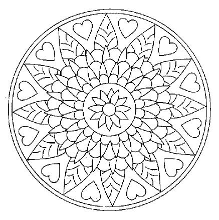 Coloriage mandala 3 - Dessins de mandala ...