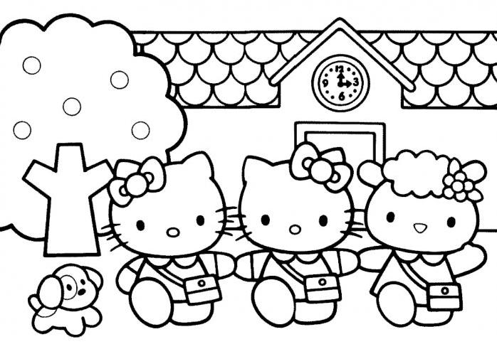 Coloriage A Imprimer Hello Kitty