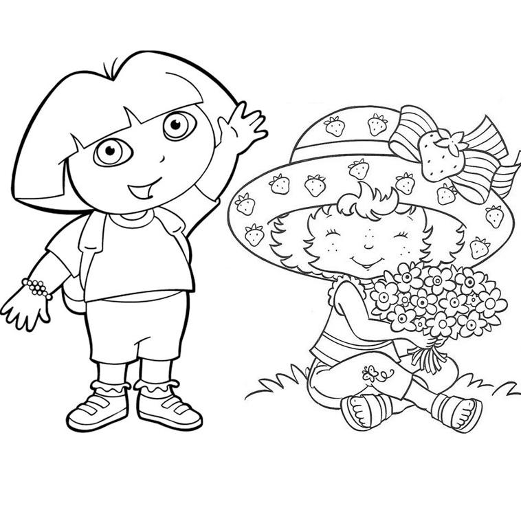 Charlotte aux fraises et dora - Dessin anime dora exploratrice gratuit ...