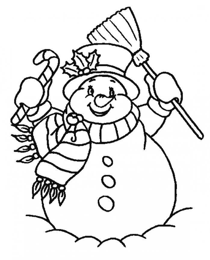 Coloriage Bonhomme De Neige Noel.Coloriage Bonhomme De Neige