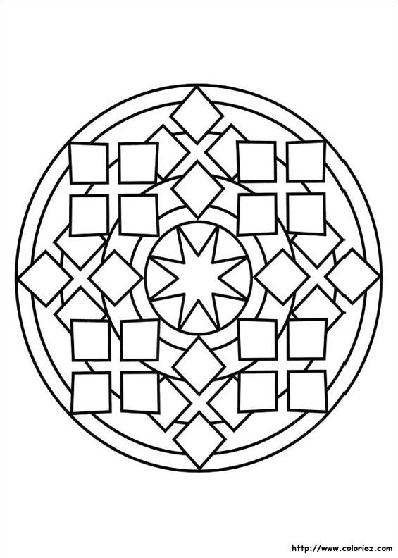 Mandala Carres Etoile