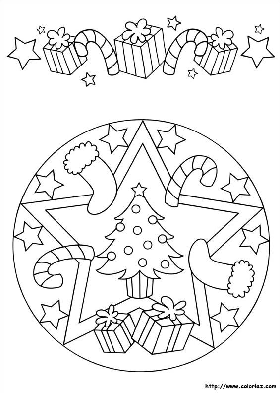 Mandala et frise de Noël