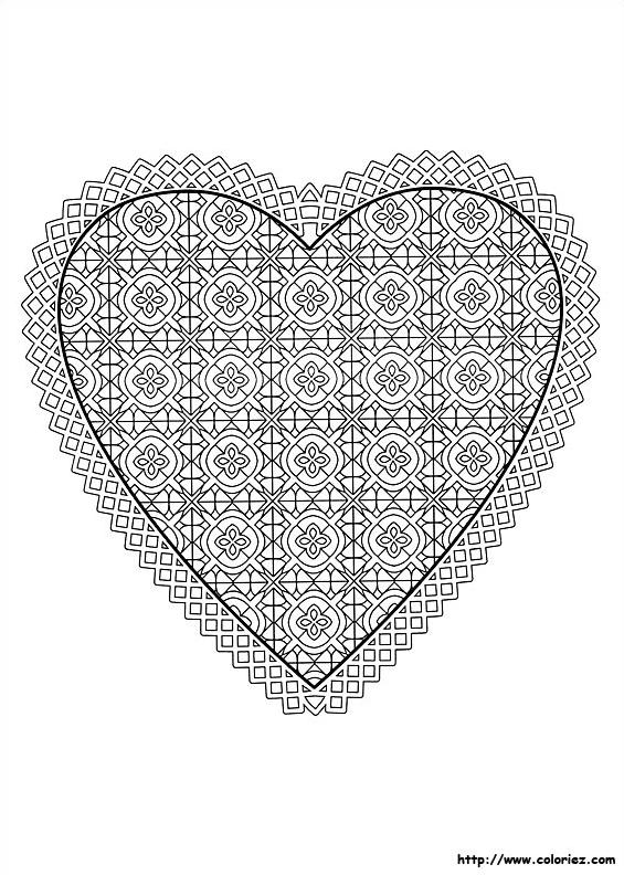 Coeur D Amour A Colorier