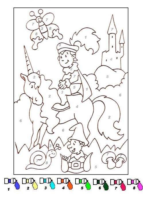 Coloriage Magique De Licorne A Imprimer.Coloriage Magique Facile 15