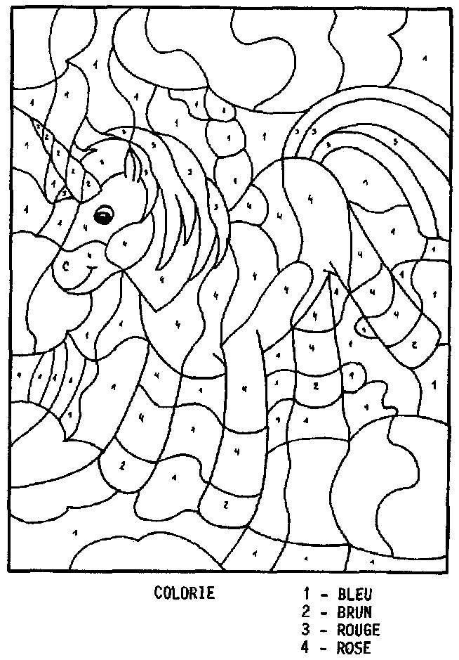 Coloriage Magique Facile 14