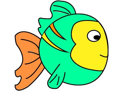 Coloriages dessins de poissons imprimer - Image de poisson a imprimer ...